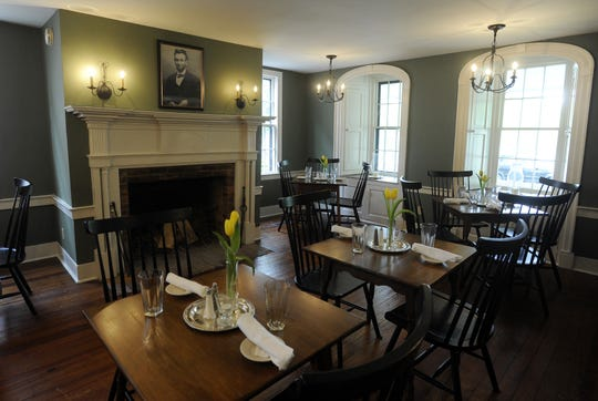 The Lincoln Dinning room at the Buxton Inn in Granville.