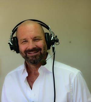 Mike Dimoff, the new racing announcer at the Ruidoso Downs and Casino.