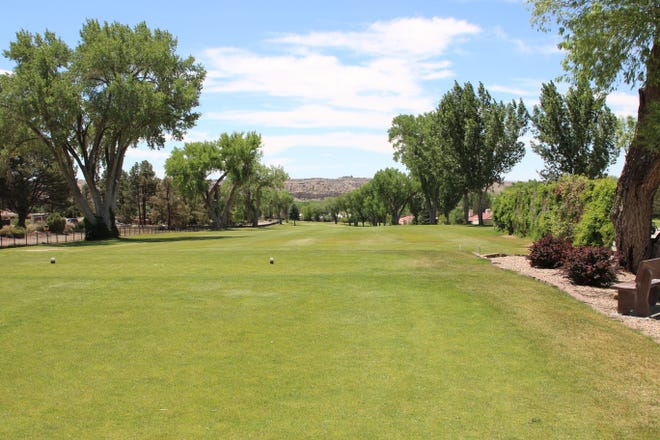 San Juan County Club sits quiet on Wednesday, May 27, 2020, in Farmington.