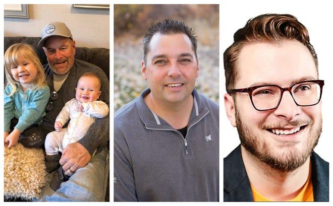 """Three candidates for Washoe School Board District D. From left: Stanley Berk, Michael """"Brock"""" Marquez, Kurt Thigpen"""