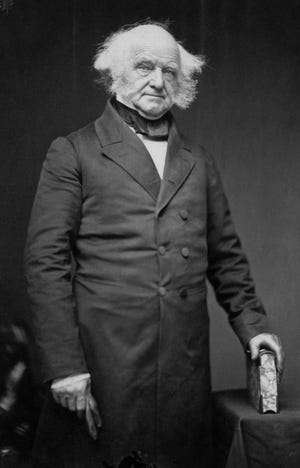 Martin Van Buren was the eighth president of the United States and the first chief executive to speak locally. When he departed town on June 10, 1842, Richmond gained the fine distinction of being a place where a President of the United States could be punished for job performance, by being dumped in mud.