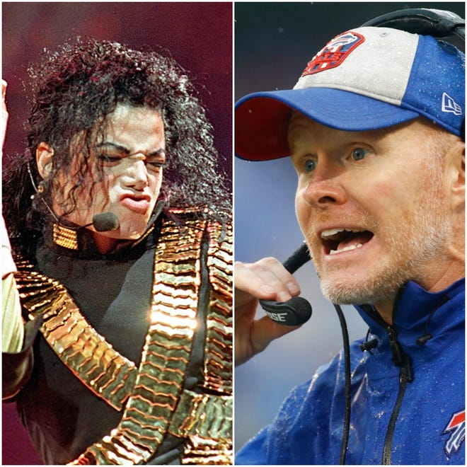 Take Buffalo Bills coach Sean McDermott out for a karaoke night, and his love of Michael Jackson's music will show.