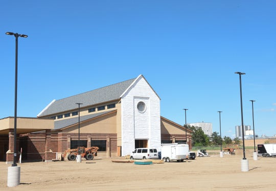 A new church is being built just down the road from the old sit of St. Mary's Catholic Church Wednesday, May 27, 2020, in Melrose.
