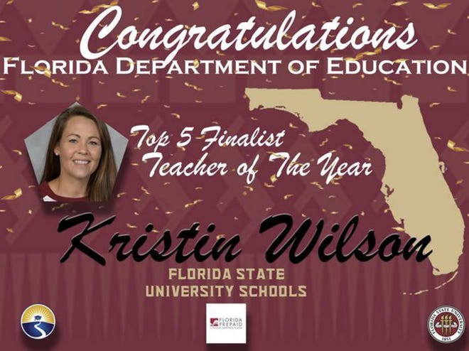 Kristin Wilson, a teacher at Florida High School, is among the top five nominees for the Teacher of the Year Award.