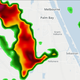 Strong thunderstorm approaches central Indian River and southern Brevard counties May 27, 2020.