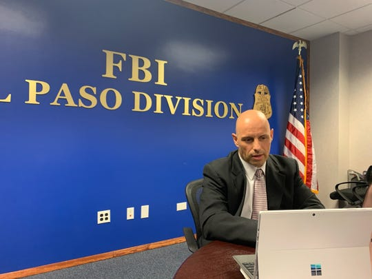 FBI El Paso's Civil Rights Division supervisory special agent Eddie Nieto discusses the agency's efforts to combat sexual harassment and extortion by landlords during a news conference Wednesday over Skype.