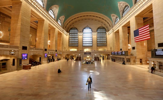 Grand Central Terminal was almost empty as all of Manhattan was far quieter than usual March 21, 2020. Coronavirus concerns have closed almost all businesses and kept most New Yorkers indoors.