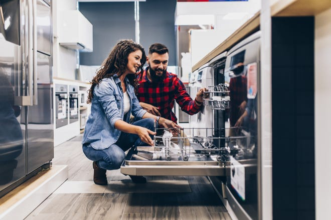 Appliance stores are known to offer huge sales around Memorial Day and throughout the month of May.