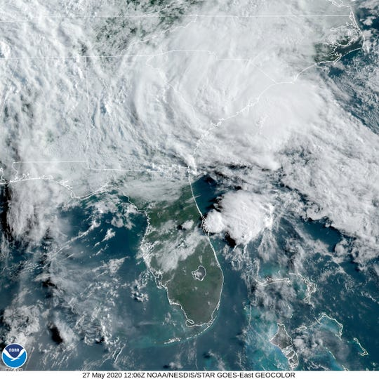 "Tropical Storm Bertha ""may produce life-threatening flash flooding,"" the hurricane center warned."