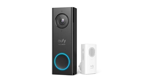 Provide an added layer of safety to your home with this Eufy doorbell.