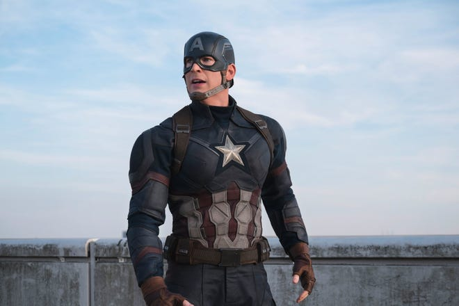 """Chris Evans wore the suit and mantle of Captain America for several Marvel movies, including 2016's """"Captain America: Civil War."""""""