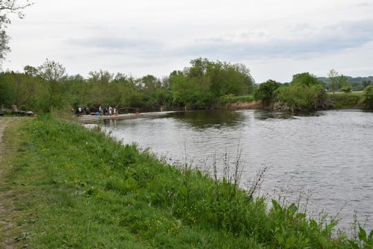 Authorities searched the Chenango River in Sherburne for about three hours Wednesday before recovering a body.