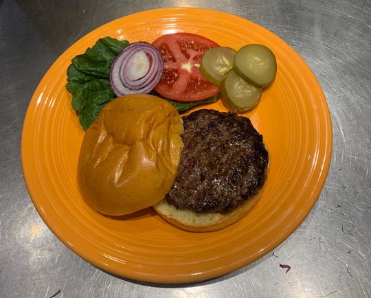 Bison burgers from Readington River Buffalo Farm.