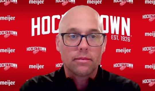 Red Wings coach Jeff Blashill meets with the media via a Zoom call on Thursday, May 28, 2020.