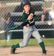 Spencer Torkelson as an 8-year-old on his Little League team sponsored by former MLB player Jonny Gomes