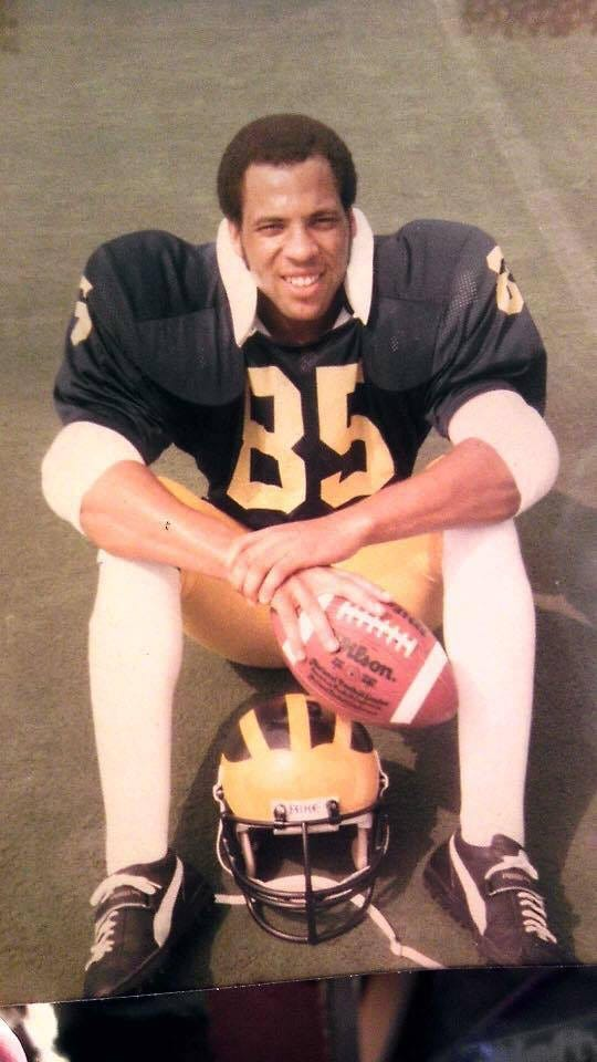 Chuck Christian during his football playing days with the Wolverines.