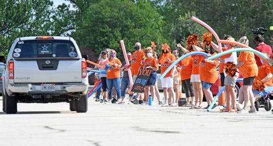 Malabar Middle School students recieved a farewell sendoff Tyger style on Thursday with a drive-thru celebration.