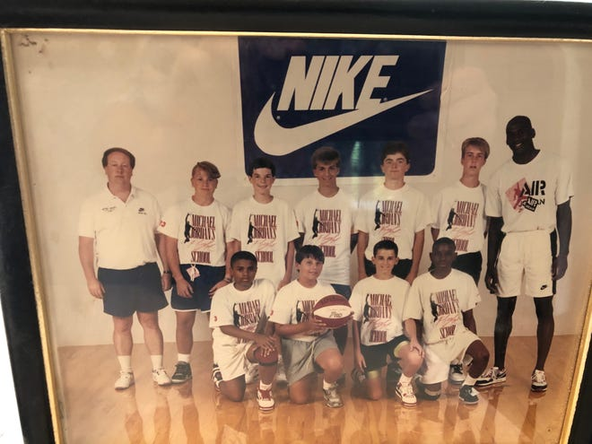 In 1990, legendary high school basketball coach Gregg Collins spent the summer at the Air Jordan Nike Basketball Camp where he interacted with campers and Michael Jordan himself.
