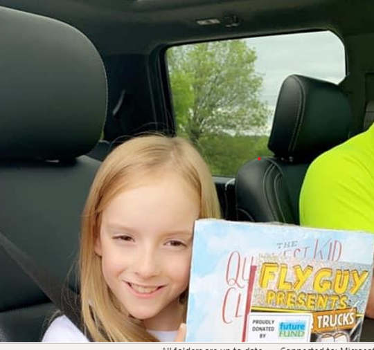 Twin Lakes Future Fund members surprised Mammoth Spring and Calico Rock elementary students with some books for summer reading last week as the students picked up their personal belongings from school.