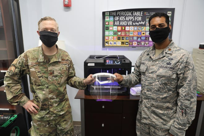Air University is helping to 3D print face shields.