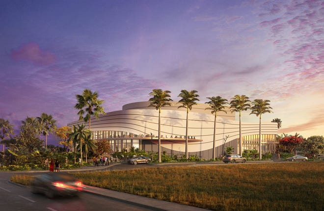 A rendering of the new Gulfshore Playhouse Theatre and Education Center in Naples