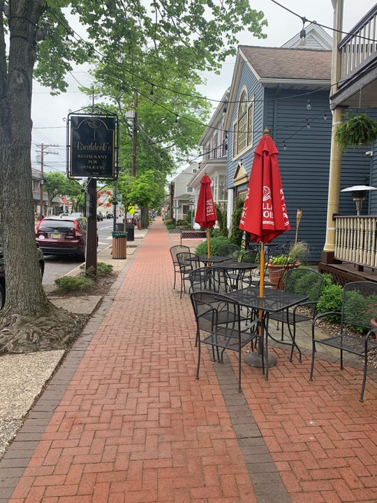 Braddocks Tavern in Medford has outdoor seating that its owner is anxious to use