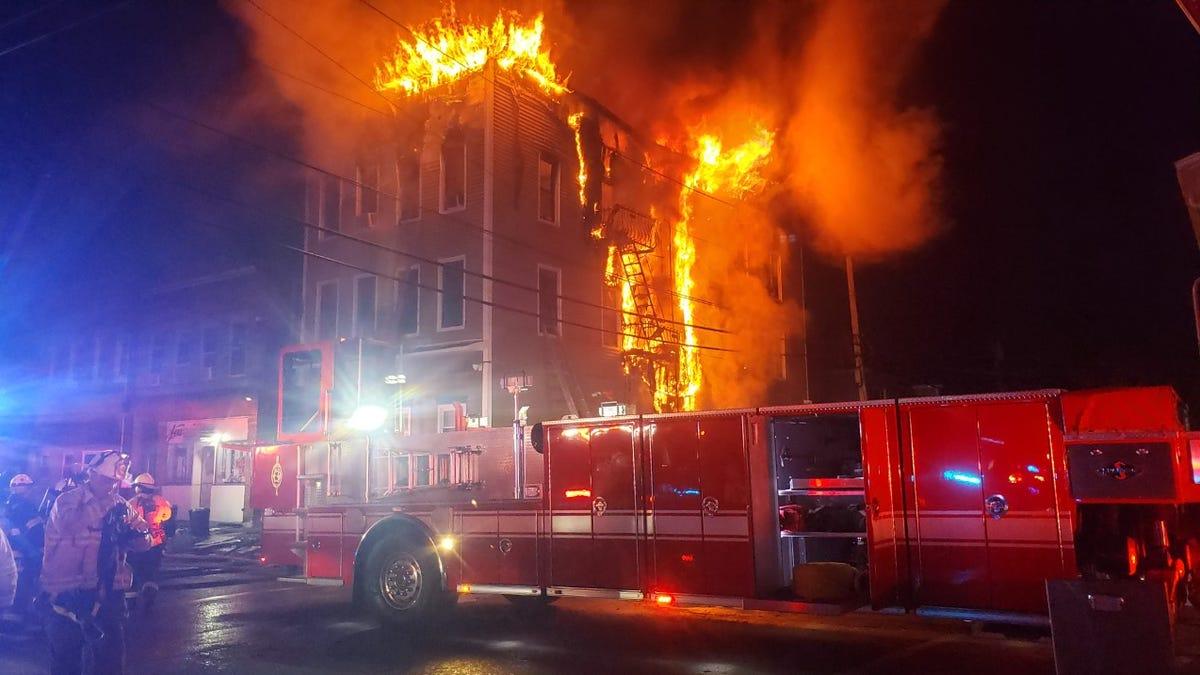 Garfield Nj Fire Destroys Jewell Street Apartment Building