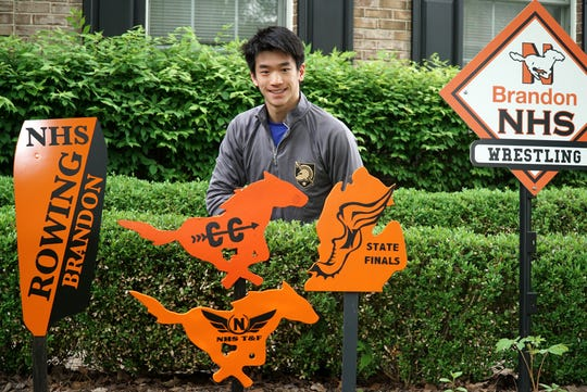 Northville Mustang Brandon Liu was a multi-sport athlete at the high school competing in cross country, track, wrestling and crew.