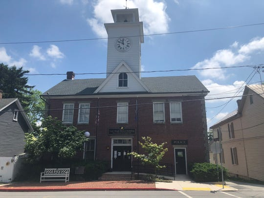 The proposal is for the borough to purchase the former Orrstown Bank building on 454 Loudon Street, moving the town hall from its downtown location in the Hugh Mercer Building, pictured here.