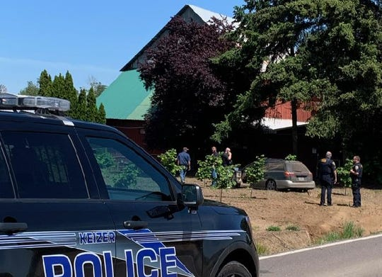 A Vernonia man is in custody after leading police on a chase which ended in a foot chase on Howell Prarie Road NE on Wednesday, May 27, 2020.