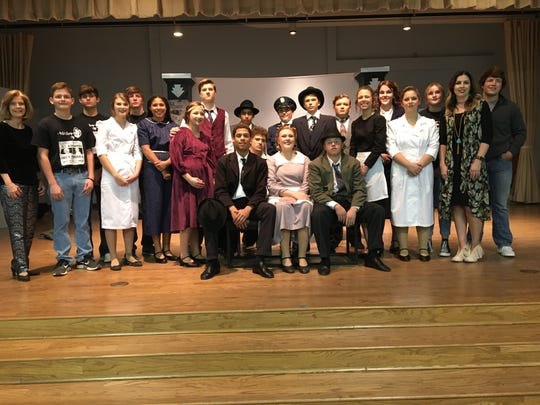 The Richland Springs High School one-act play cast and crew for 2020. Patsy Hall, far left, is the program director. The production was performed once in a non-competition setting before the COVID-19 pandemic shut down all UIL activities.