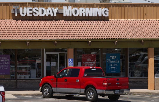 The Dallas-based Tuesday Morning chain has filed for Chapter 11 bankruptcy due to strains caused by the coronavirus. The San Angelo store is seen here in this Wednesday, May 27, 2020 photo.