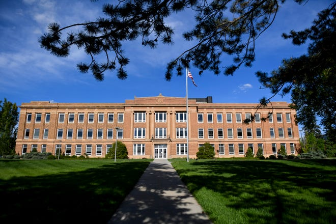 South Dakota State University campus is seen on Wednesday, May 27, 2020 in Brookings, S.D.