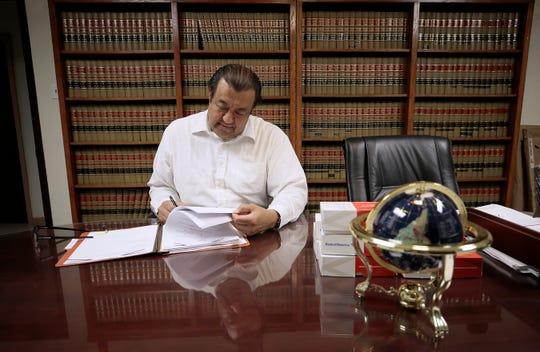 El Paso attorney Sergio Saldivar has seen a drop in income after coronavirus paused hearings.