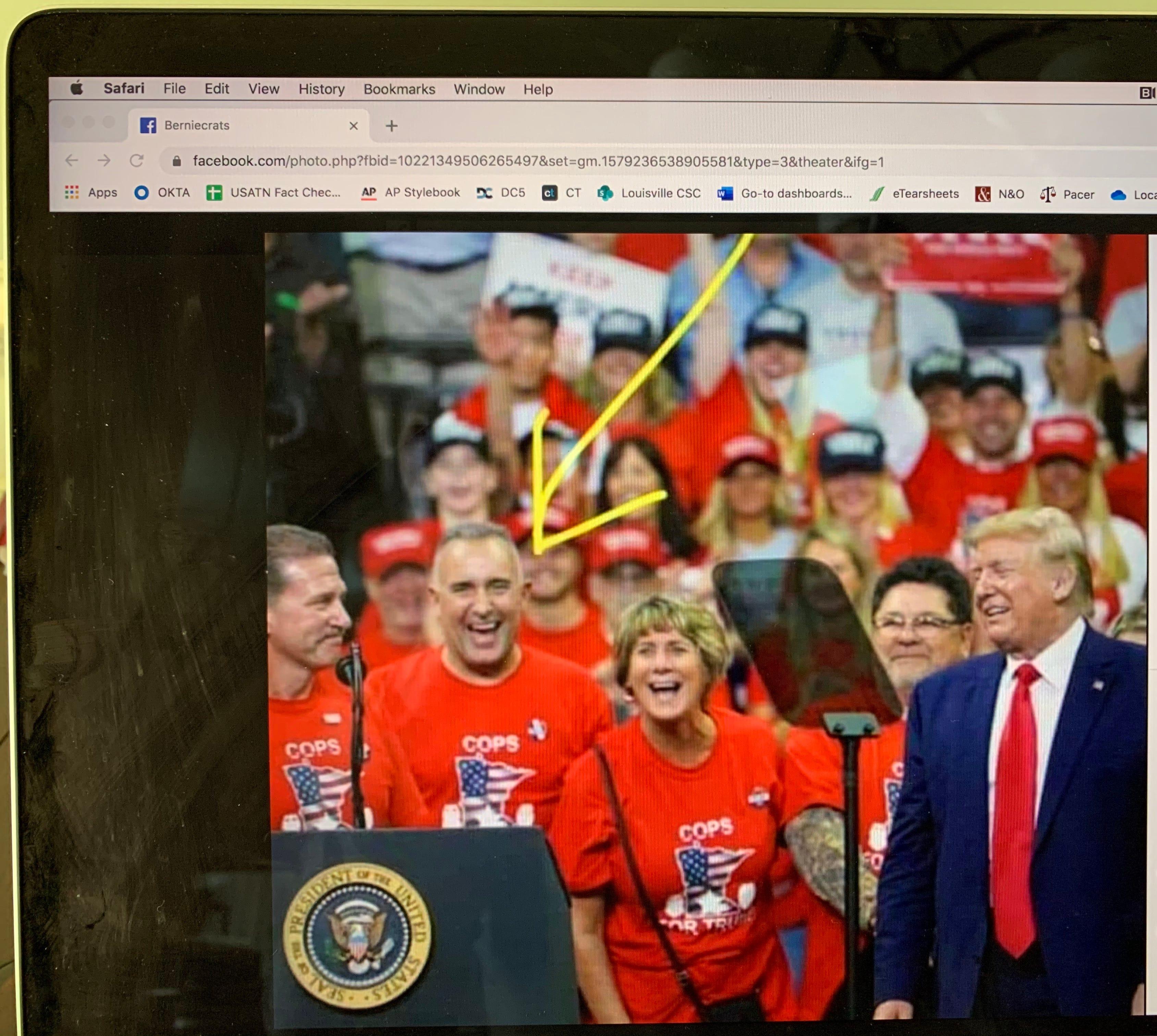 Fact Check Ex Officer Derek Chauvin Wasn T At Donald Trump Rally