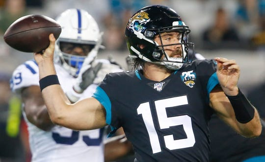 Gardner Minshew started 12 games for the Jaguars in 2019, playing for 3,271 yards and 21 TDs.