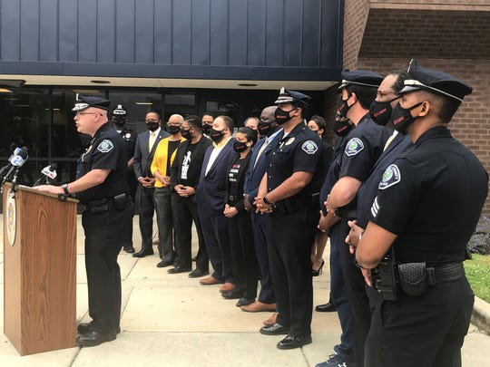 Camden County police officers and city clergy members on Thursday denounced the death of George Floyd in Minneapolis.