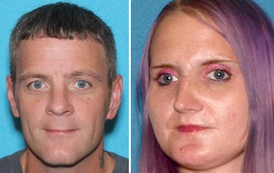 Charles Goodema of Mount Laurel and Megan Winters of Avenel face charges after they allegedly walked away from a vehicle on the New Jersey Turnpike.