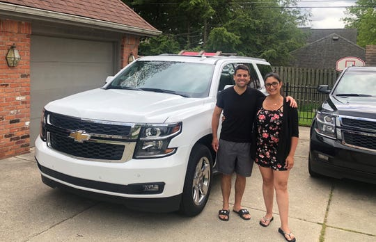 Chris Ferlito and his wife, AnneMarie, of Grosse Pointe Farms took the keys to their new 2020 Chevy Suburban on May 28, 2020, relieved that they would not need to wait for a new car with the recent arrival of Baby Marina growing their family to five.