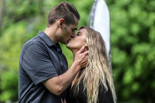 Amanda Kertesz, 27, and Connor Dresser, 28,  plan a backyard wedding.