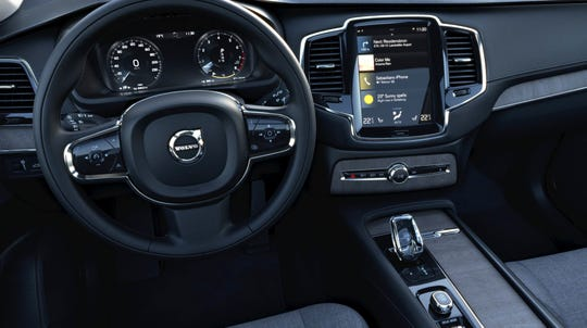 The XC90 features a new, nine-inch, tablet-style touchscreen.