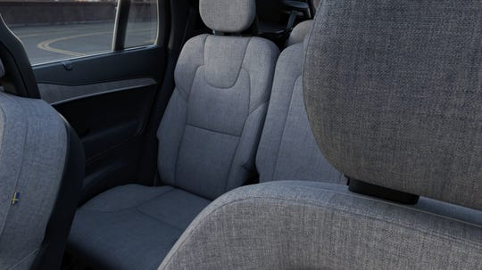 "The XC90's wool upholstry is sourced from Swedish sheep and blended ""to reflect the Scandinavian light,"" according to Claudia Braun, Volvo's vice president for color and material design."