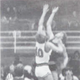 Chinook's Thomas Tilleman (in dark uniform) goes up for a jump ball in a 1986 game.