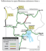 The National Park Service offers this map of Yellowstone National Park.