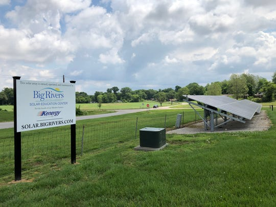 The solar education center on Old Corydon Road is a partnership between Kenergy Corp. and power supplier Big Rivers Electric Corp.