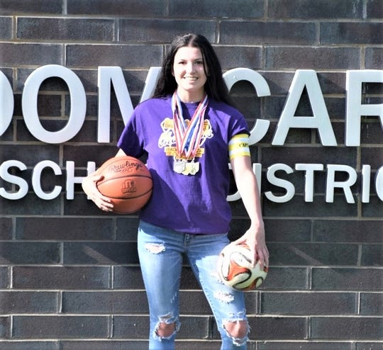 Bloom-Carroll senior Makenzee Mason was named All-Ohio in soccer and basketball. She is the 2020 Eagle-Gazette Athlete of the Year.