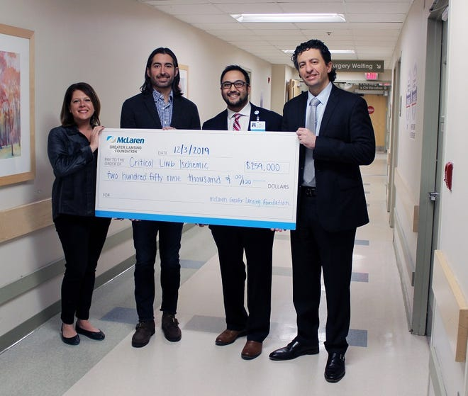 The McLaren Greater Lansing Foundation grant of nearly $260,000 funded the purchase of a new digital mobile super C-arm – along with a training program – and helped create a Critical Limb Ischemic (CLI) Salvage Program.