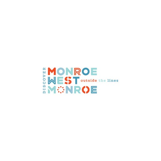 The new logo for the Monroe-West Monroe Convention and Visitors Bureau uses design elements to pull together our area's industrial history, natural beauty and vibrant arts culture.