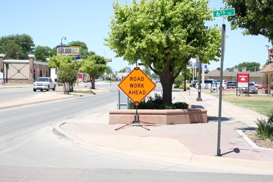 A sign warns Artesia commuters of road work on Main Street on May 29, 2020. The New Mexico Department of Transportation is looking to hire temporary workers in Carlsbad and Hobbs.