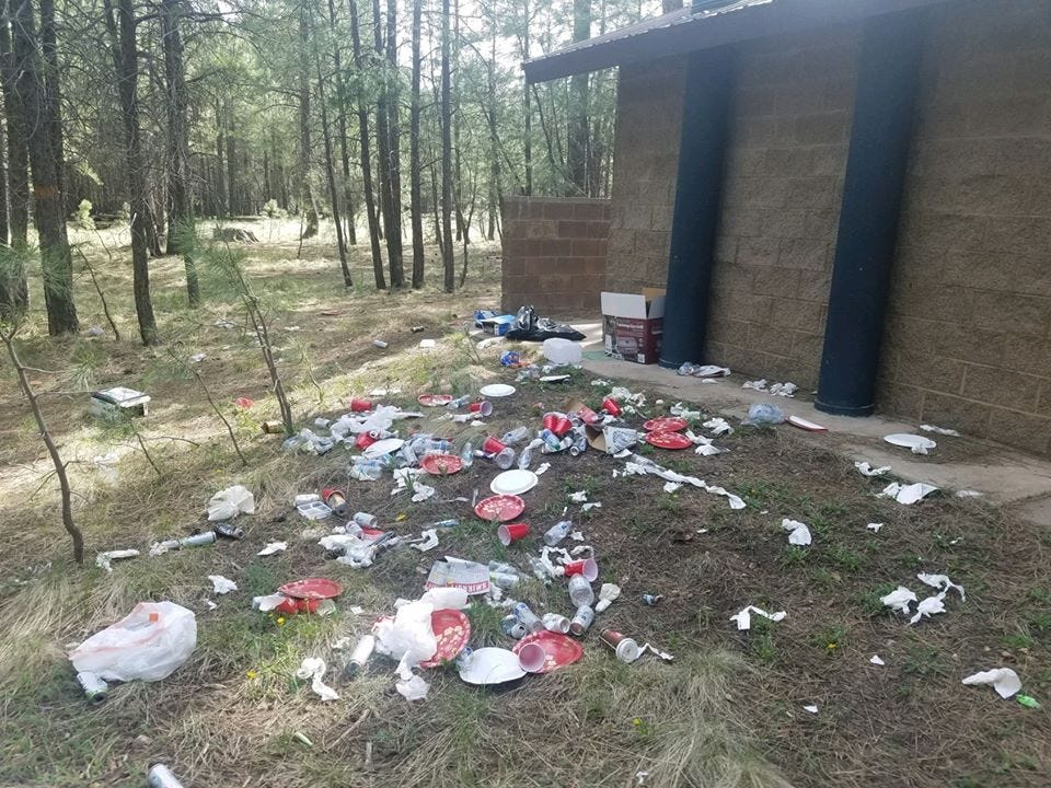 Trash and litter are being left behind at Arizona lakes and parks during COVID-19 pandemic